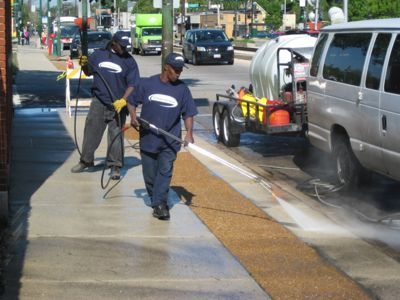 Cleanstreet cleans sidewalks, driveways, parking lots, and other concrete surfaces.
