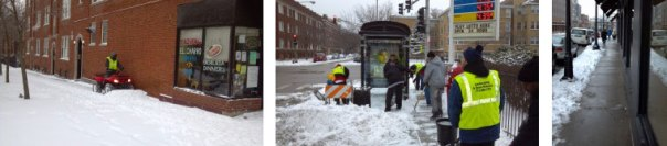 Cleanstreet uses an ATV with a plow to clear most of the sidewalks ASAP! We clear the bus stops and sidewalks.